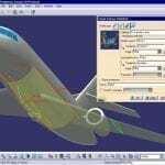 Avião modelado no software CAD CATIA V5