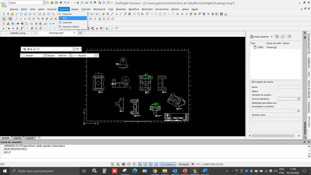 Draftsight 3D - Exportar Arquivos